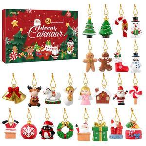 Advent календарь очаровательные Висячие Подвески для рождественского фестиваля банкета рождественского обратного отсчета сюрприз коробка д...