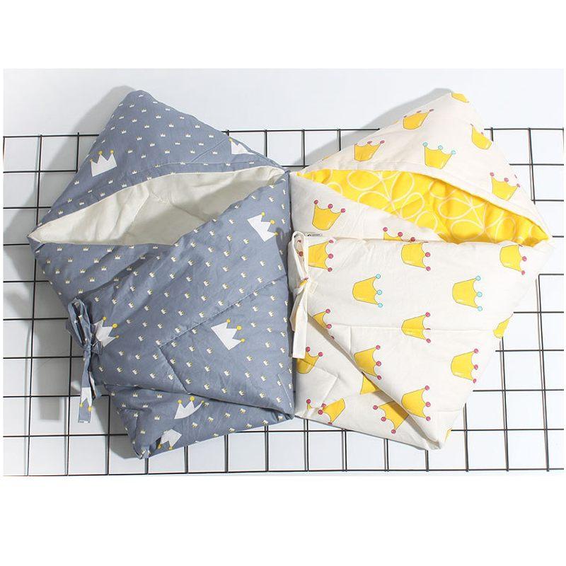 90x90cm Cotton Newborn Baby Swaddle Infant Blanket Thick Warm Wraps Baby Sleep Swaddling Bedding Supplies Infant Wrap Swaddle