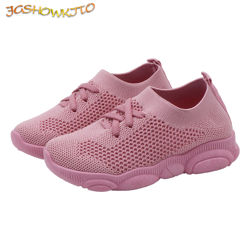 Kids Shoes Girls Boys Sports Shoes Antislip Baby Sneaker Casual Flat Sneakers Children Running Shoes Air Mesh Slip-on Size 22-39
