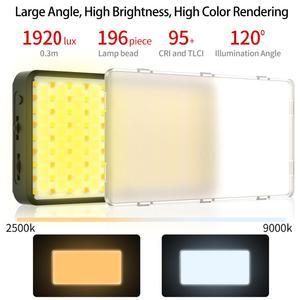 Image 5 - VIJIM Luz LED VL196 RGB para vídeo 2500K 9000K, luz de relleno regulable, lámpara de luz Vlog para teléfono inteligente, Kit de iluminación de fotografía Ulanzi