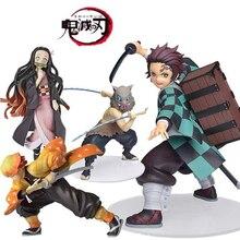 Anime figure Demon Slayer Figure Kamado Tanjirou Nezuko Action Figures PVC Model Toys Zenitsu Figurine Inosuke Kimetsu No Yaiba