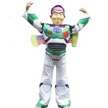 Menino brinquedos-storys buzz lightyear macacão traje de halloween trajes de luxo crianças criança fantasia vestido cosplay aniversário festa presente