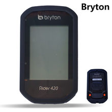 Bicicleta ciclismo r420 computador cronômetro de borracha silicone caso protetor inteligente capa com tela lcd filme para bryton rider 420