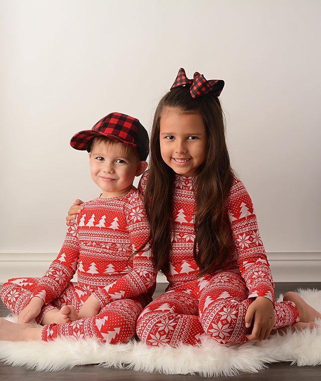 Комплект одинаковых рождественских пижам для всей семьи; одежда для сна для маленьких мальчиков и девочек; одежда для сна; подарки; комплекты для сна - Цвет: 2 Years