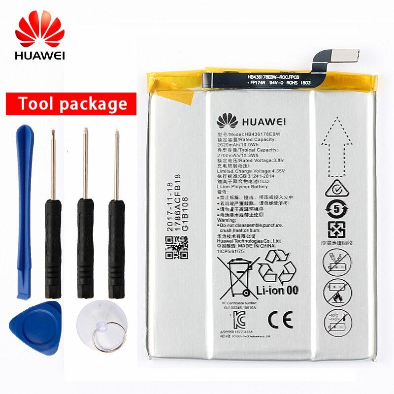 Batterie de téléphone d'origine HB436178EBW pour Huawei Mate S CRR-CL00 UL00 2700mAh HB436178EBW
