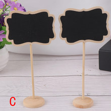 Mini Small Wooden Chalk Blackboard Wedding Kitchen Restaurant Signs Chalkboard Writing Notice Message Paint Wood Board C Style(China)