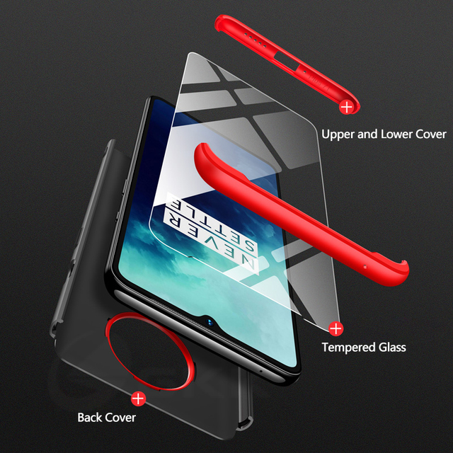 OnePlus 7T Pro Shockproof Full Protection Hard PC 3 in 1 Case Cover