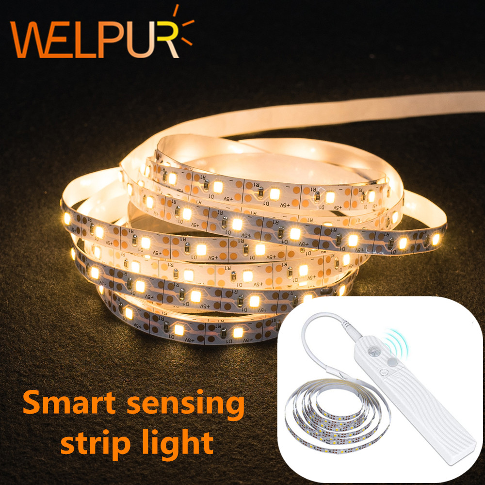 DC 5V LED Strip Lamp Motion LED Backlight LED TV Kitchen Hand Sweep Waving ON OFF PIR Sensor Light Diode Lights Motion Sensing