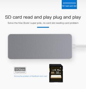 Image 5 - Док станция Thunderbolt 3 стандарта USB Type c на HDMI, Ethernet, RJ45, USB 3,0