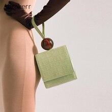 Luxury Handbags Women Bags Designer Crocodile Pattern Acrylic Ball Small Flap Box Bag Malas De Senhora Casual Clutch Bag Women
