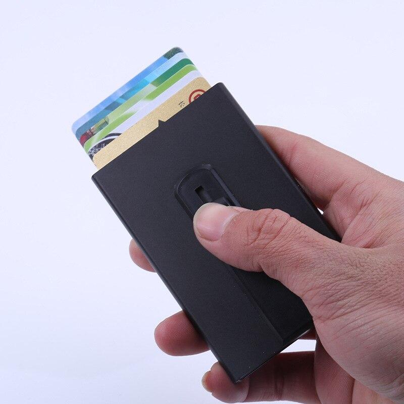 Porte élégante affaires Porte-Carte de crédit en aluminium portefeuille RFID Carte poche Porte-Carte d'identité étui cadeau en métal Carte étui Porte-monnaie