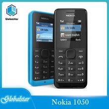 Nokia-Teléfonos Móviles reacondicionados 105 1050, originales, desbloqueados, con Radio FM, Tarjeta SIM única o tarjeta SIM Dual, envío gratis