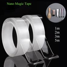 Nano Magic Tape reutilizable, cinta adhesiva de doble cara, transparente, impermeable, antideslizante, de pared, 1/2/3/5m