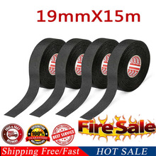 2019 New Black 15m cloth wiring harness car truck wiring harness tape blanket cloth Tape