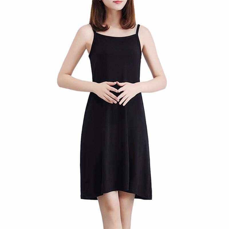 ノースリーブカジュアルドレスフィットショートキャミドレス女性無地ボトムドレスセクシーな固体ペチコート