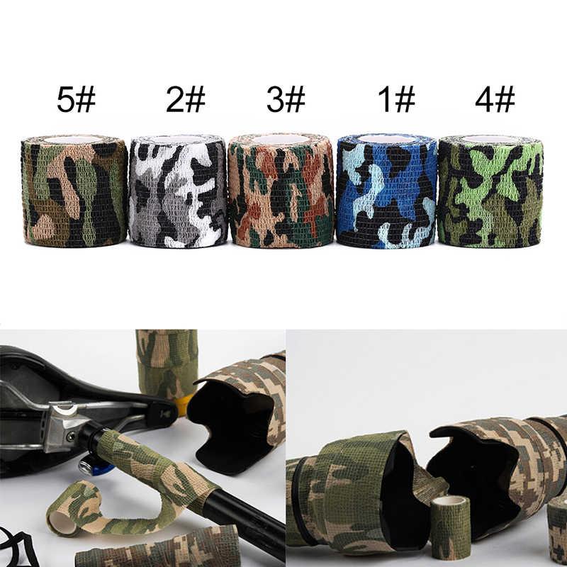 Auto adesivo não tecido camuflagem envoltório rifle caça tiro ciclismo fita impermeável camo stealth fita