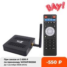 TOX1 Smart Android 9,0 TV Box 4GB 32GB Amlogic S905X3 2,4G 5G Dual Wifi 1000M BT 4,2 4K reproductor de medios para Dolby Atmos de Audio TVBox