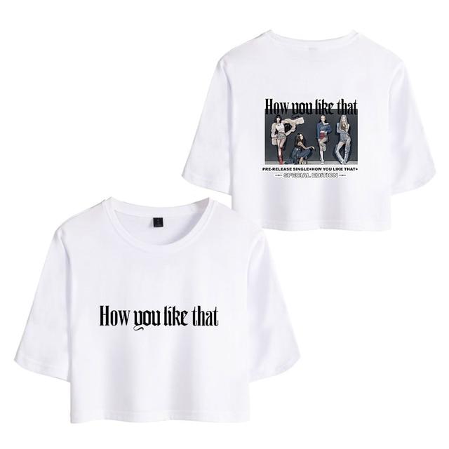 Blackpink t-shirts 2020 nouveau été femmes Sexy T-shirt mignon Hip Hop 2020 nouveau à manches courtes T-shirt vêtements dextérieur mode été T-shirt