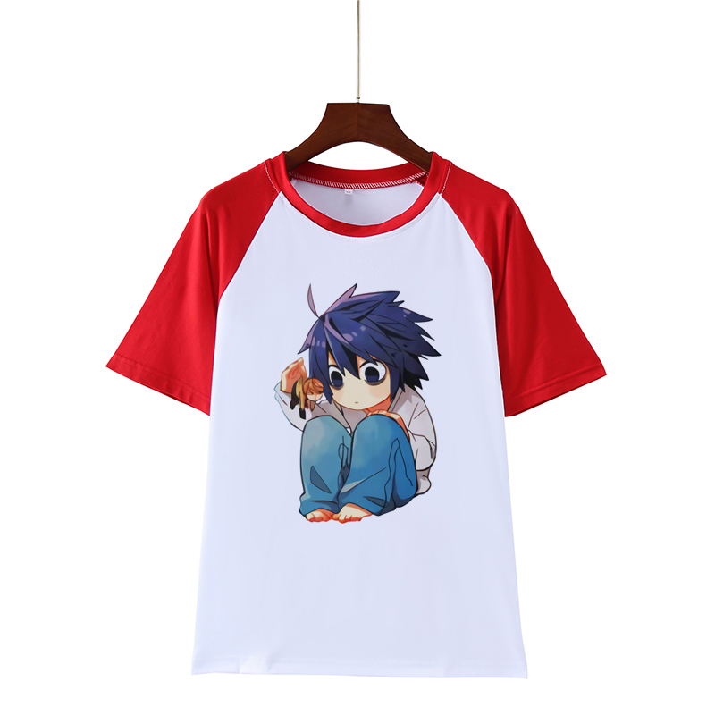 Anime Death Note L Lawliet T-Shirt Cotton Long Sleeves Cosplay Tee Shirts Tops