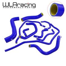 WLR   Blue 10PCS Silicone Radiator Cooling Hose for 2001 2006 Subaru Impreza WRX 2.0T EJ205 EJ20 GDB GD With PQY logo