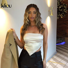 Kliou 캐주얼 솔리드 섹시 코르셋 탑 여성 2020 Streetwear Backless 민소매 슬림 스키니 파티 Clubwear Basic Cropped Camisole