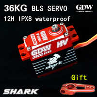 12h diving Test GDW SHARK IPX8 Waterproof All-metal 36kg Brushless Servo 1/8 1/10 1/5 Buggy drift Monster truck Crawler Scale