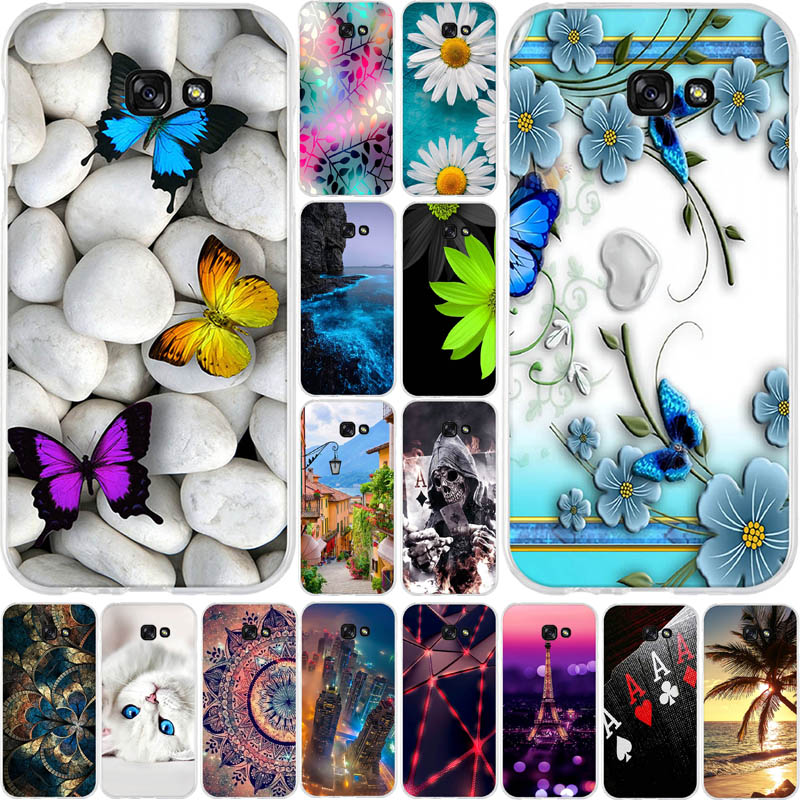 Case For Samsung Galaxy A7 2017 A720F Case 5.7 Inch Soft TPU Silicon Back Cover For Samsung Galaxy A7 2017 Cover Protector Cases