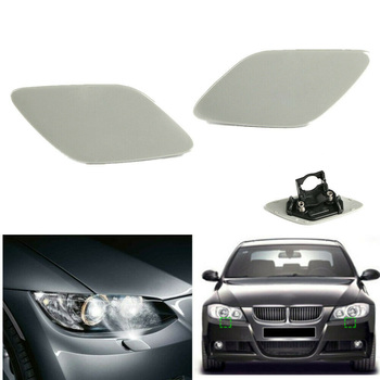 1Pair 2pcs Front Bumper Headlight Washer Cover Cap For BMW E92 Coupe E93 328i 335i Car Styling Replace Accessories image