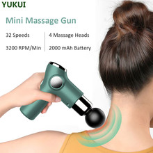 Mini Massage Gun Deep Tissue Percussion Massager For Pain Relief Portable Body Muscle Relaxation LCD Display Massager 32 Speeds