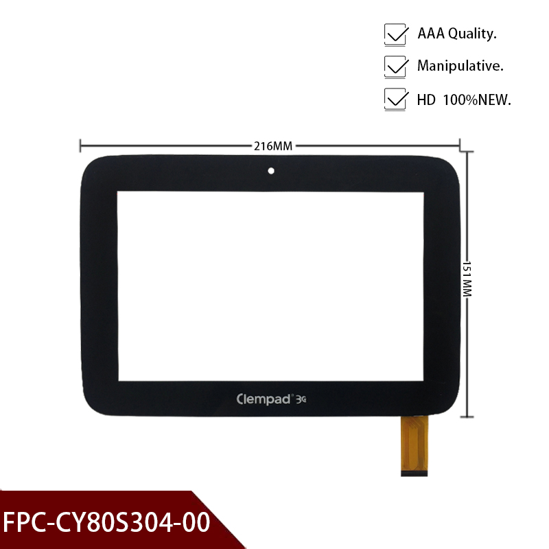 Original New Touch Screen Panel Glass FPC-CY80S304-00 For ClemPad 3G Tablets Touch Panel Sensor Free Shipping