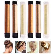 6pcs DIY Hair Bun Maker Donut Clip French Twist Hair Fold Wr