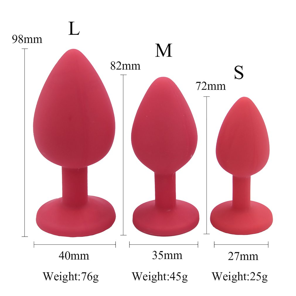 Adult Anus Toy Smooth Silicone Butt Plug With Crystal Anal Plug No Vibrator Sex Toys For Couples Women Men Intimate Goods