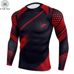 Fitness Compression Tshirt Men Long Sleeve Tight Shirt Quick Dry Sportswear T-shirt Sweatshirt Workout T Shirts Rashguard