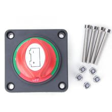 Disconnect Isolator Switch DC Power ABS Plastic Double Battery Isolator Cut Out Off Kill Switch Kit 12V 24V 36V  for Car Yachts kh 12v 24v 200a battery isolator car relays 4 terminal dual battery switch dc relay on off car automotive power control switches