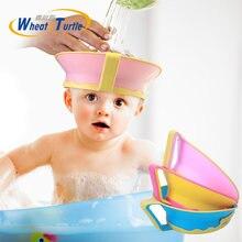 Шапка козырек для ванны детей регулируемая шапка душа шампуня