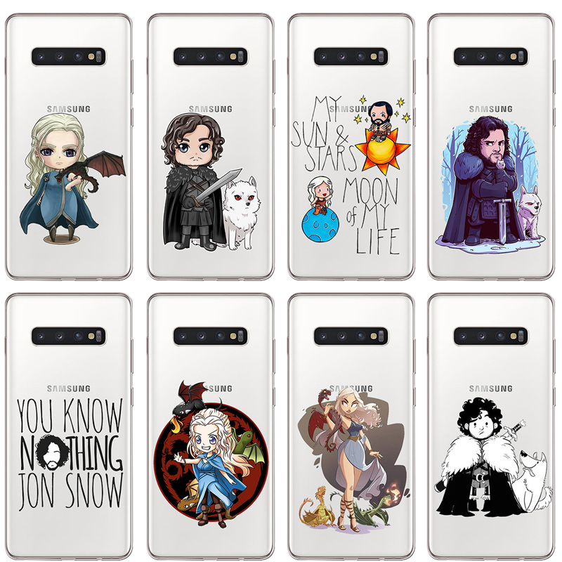ciciber Game of Thrones for Samsung S9 S10 S8 S7 S6 S5 Edge Plus S10e Soft silicone TPU Phone Case for Galaxy Note 10 9 8 5 Plus image