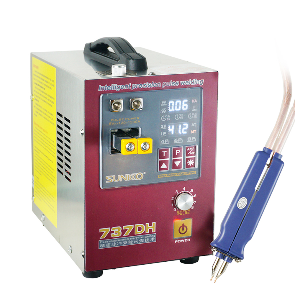 Tools : 4 3KW high power spot welding machine use for 18650 battery spot welding newly upgraded delayed weld automatic pulse spot welder