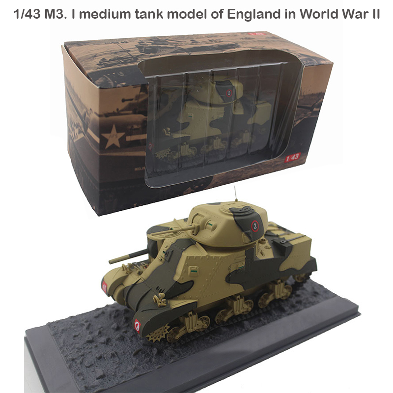 Rare  1/43  M3. I Medium Tank Model Of England In World War II  Static Finished Product  Alloy Collection Model