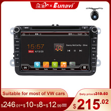 Eunavi 2 Din Android Octa Core 4Gb 64Gb Auto Dvd Voor Vw Passat Cc Polo Golf 5 6 touran Eos T5 Sharan Jetta Tiguan Gps Radio Dsp