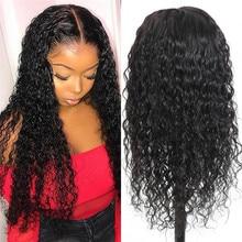 BUGUQI волосы 4*4 закрытие шнурка парики бразильские человеческие волосы фронтальные парики шнурка не-Реми воды волна шнурка человеческих волос парик