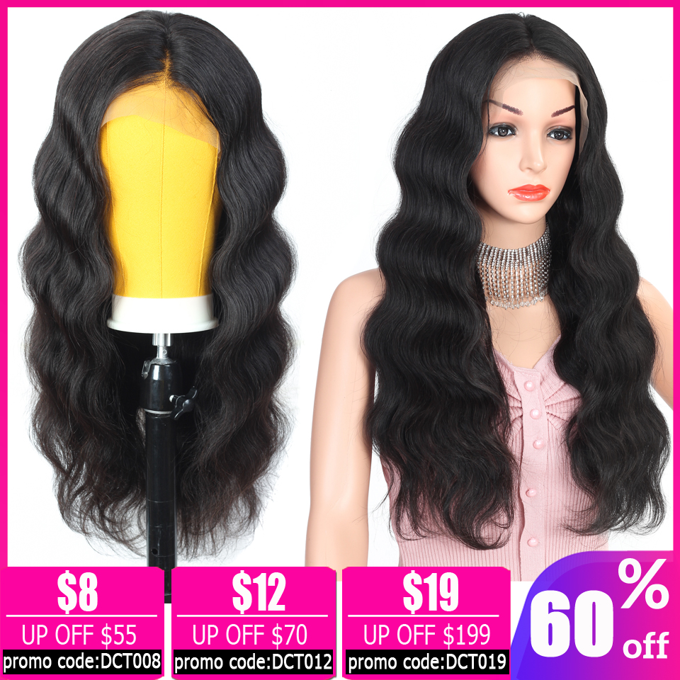 Brazilian Wig Body Wave 13×4 Lace Front Wig Short Bob Glueless Lace Front Human Hair Wigs For Black Women Non-remy 150% Density