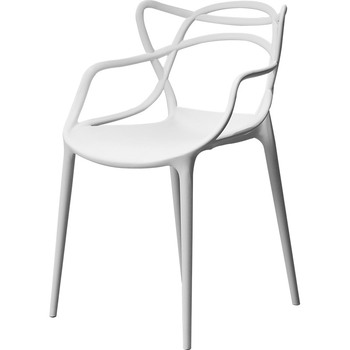 Nordic plastic dining chair household  thick adult  outdoor  star vine  coffee