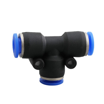 4mm 6mm 8mm 10mm 12mm 14mm 16mm Pneumatic Quick Fitting Straight 3 Way Push to Connect Pipe Tube Fittings image