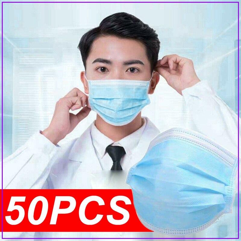 50pcs Boca Gas Surgical Reusable Filter Mondmaskers Fpp3 Anime Masker Mulut Cubre Bocas Dust