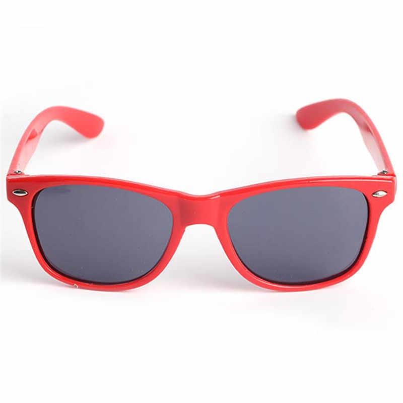 בציר בני בנות משקפי שמש לילדים חמוד בטיחות ציפוי משקפיים UV 400 הגנת אופנה גווני oculos דה סול לילדים