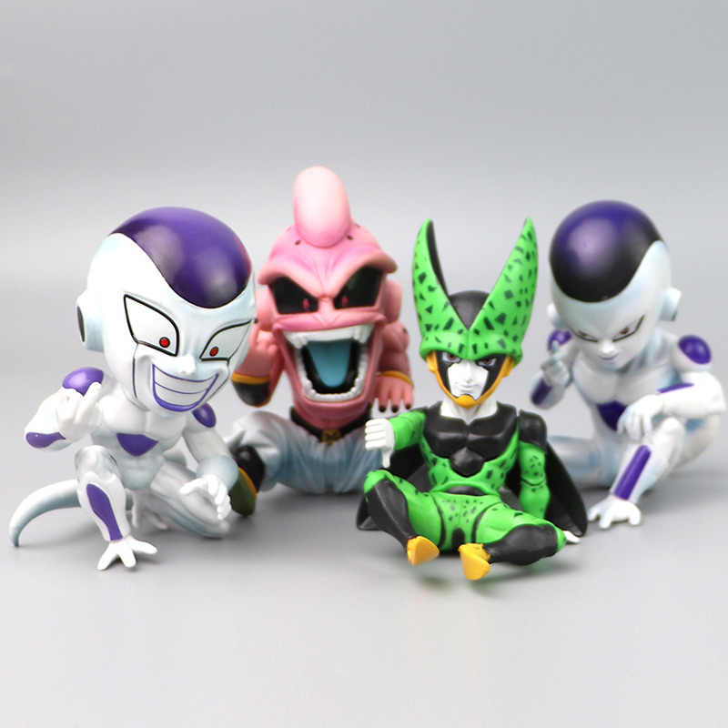 11 Cm 4 Jenis Tidak Ada Kotak Dragon Ball Action Figure Majin Buu Frieza Majin Boo Freeza Figure Pvc Mainan Koleksi anime Model