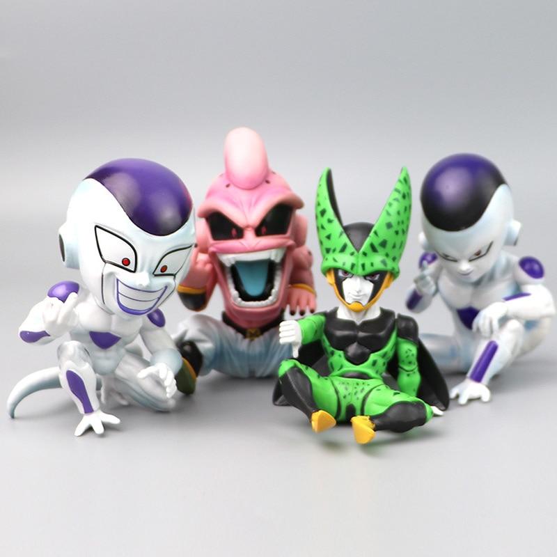 11cm 4 Types No Box Dragon Ball Action Figure Majin Buu Frieza  Majin Boo Freeza Figure PVC Toys Collection Anime Model