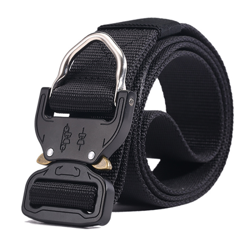 Tactical Belt New Breathable Outdoor Nylon Military Belt High Quality Nylon Men's Training Belt Metal Multifunctional Buckle