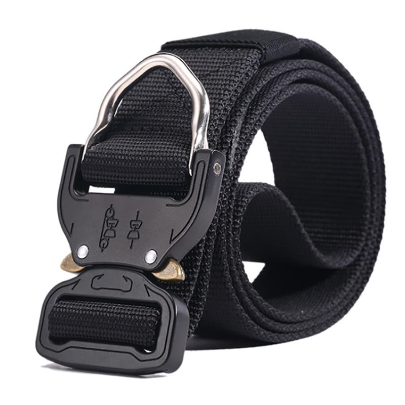 Tactical Belt New Breathable Outdoor Nylon Military Belt High Quality Nylon Men's Training Belt Metal Multifunctional Buckle