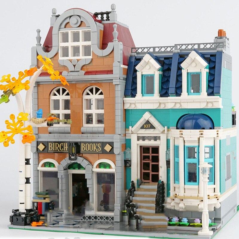 2524Pcs The Bookshop Creator City Street View Model Compatible 10270 Building Kits Blocks Bricks Toys Children Gift
